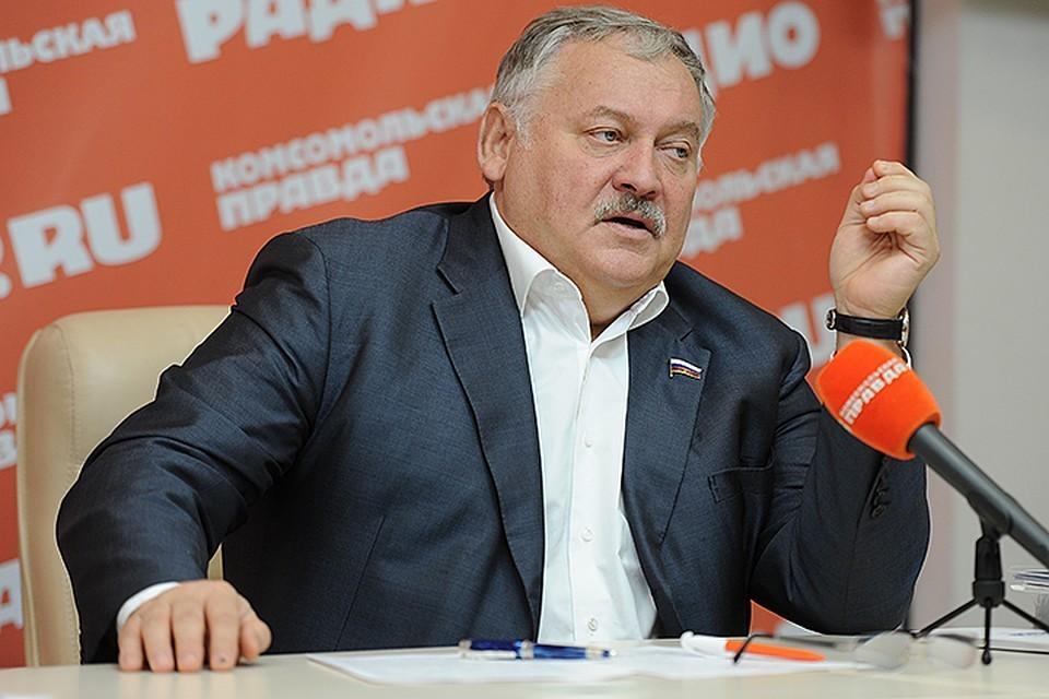Константин Затулин на пресс-конференции в «Комсомольской правде»