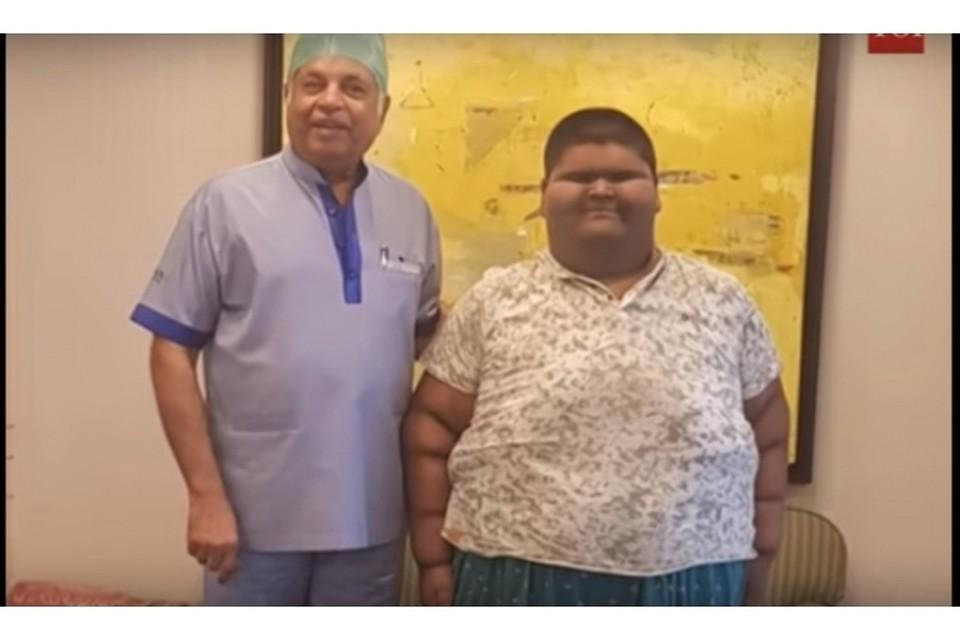 Самый толстый подросток в мире похудел на один центнер