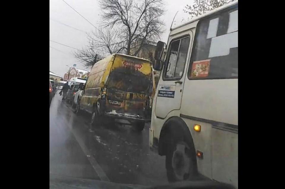 ДТп на улице Фрунзе в Липецке