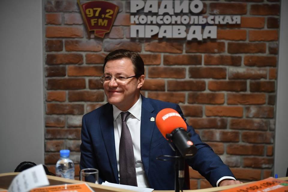 Губернатор Самарской области Дмитрий Азаров в эфире радио КП.