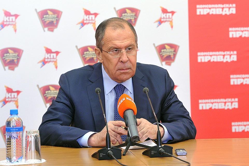 Глава МИД Российской Федерации Сергей Лавров.
