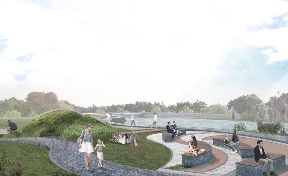 Территория у Ивановского карьера превратится в современное общественное пространство. Фото: Комитет по благоустройству