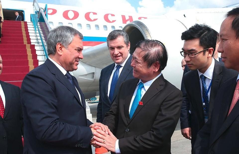 Председатель Государственной Думы Вячеслав Володин прибыл во Вьетнам. ФОТО пресс-служба ГД РФ
