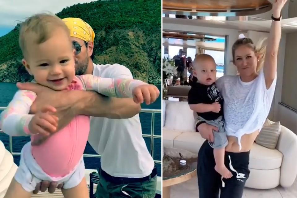 Анна и Энрике провели выходные с детьми - дочкой Люси (слева) и сыном Нико (справа). Фото: Инстаграм.