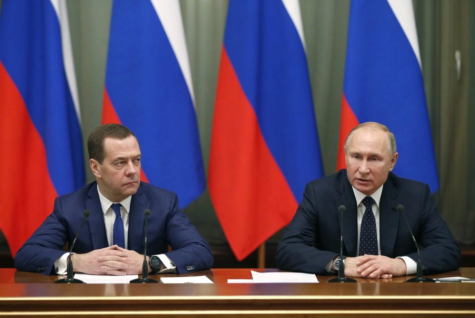 Путин поблагодарил Медведева