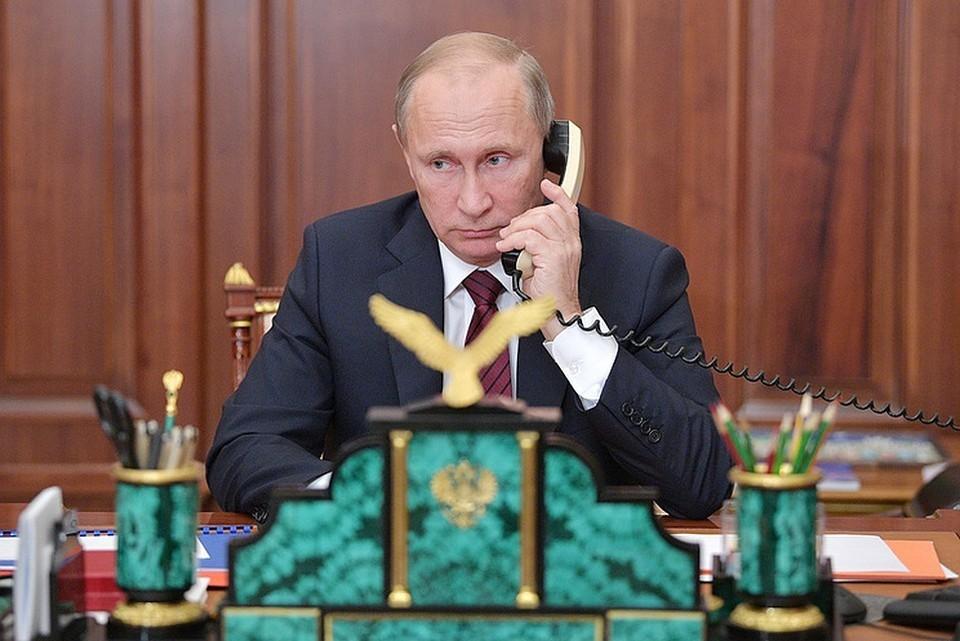 Президент России Владимир Путин провёл телефонные переговоры с главой Финляндии Саули Ниинистё. ФОТО Алексей Дружинин/пресс-служба президента РФ/ТАСС