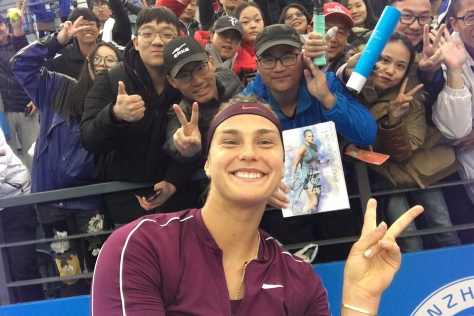 Арину Соболенко в Китае любят. Фото: