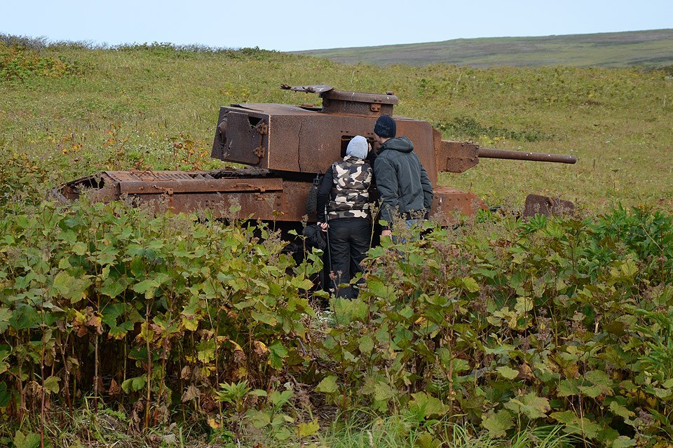 Курильские острова. о.Шумшу. Военная техника, оставленная на острове по окончанию боевых действий в августе 1945 года.
