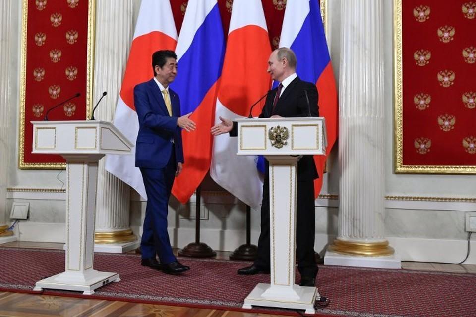 В Москве состоялись переговоры Владимира Путина с японским премьером Синдзо Абэ
