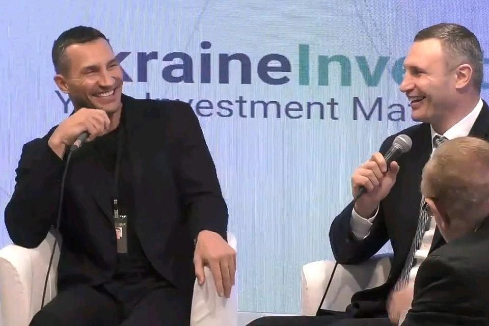 Братья Владимир и Виталий Кличко в Давосе.