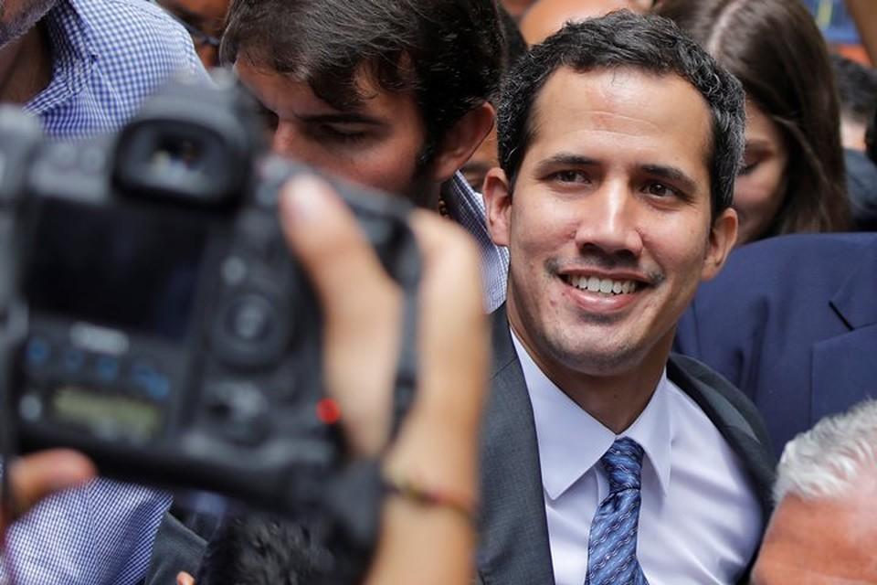 Председатель Национальной ассамблеи Венесуэлы Хуан Гуайдо