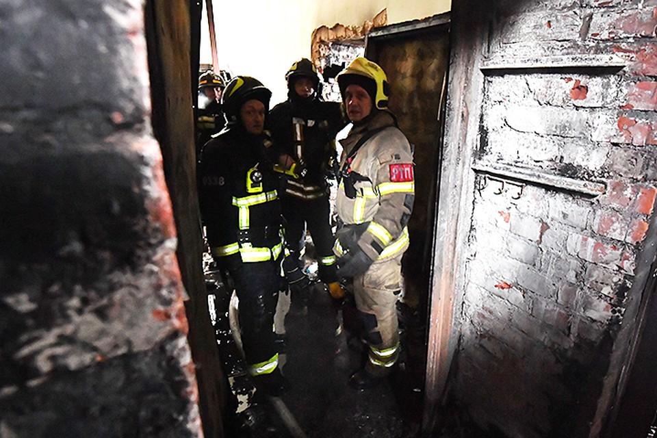 Предполагают, что пожар начался из-за замыкания в проводке