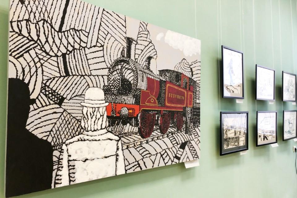 Выставка московского художника «Сказки забытого раввина» открылась в Иркутске.