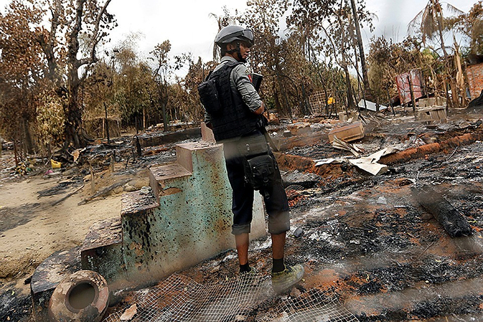 Столкновение между боевиками и полицейскими произошло в районе города Поннагюн