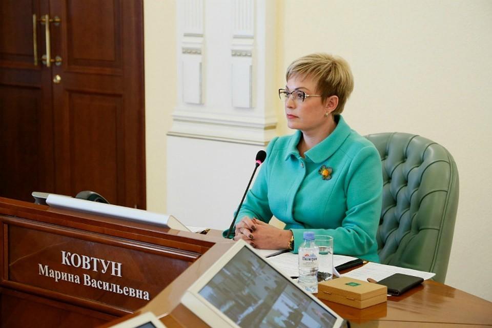Марина Васильевна во вторник сообщила о своем возвращении из командировки в Москве. Фото: пресс-служба правительства Мурманской области.