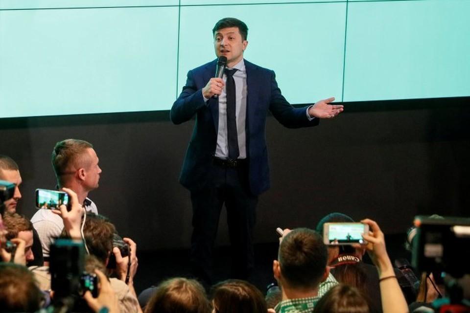 Шоумен Владимир Зеленский стал победителем первого тура президентских выборов на Украине