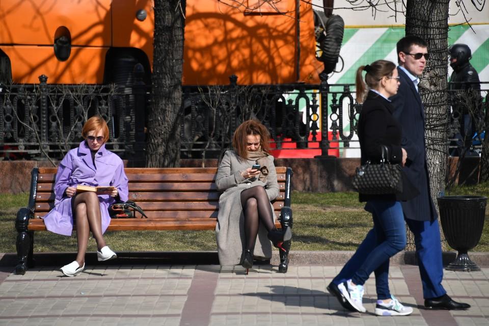 В четверг на московских улицах будет тепло
