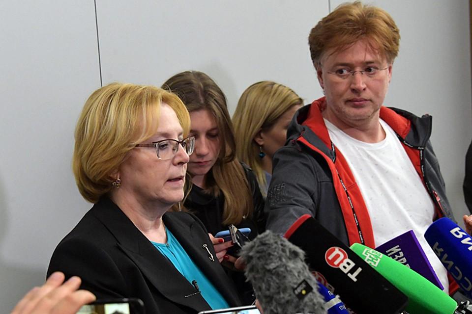 О пассажирах и членах экипажа, которые выжили, журналистам рассказала министр здравоохранения России Вероника Скворцова