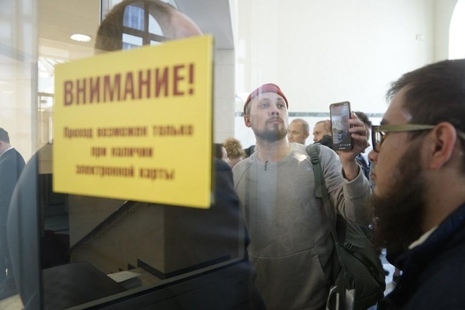 Один из участников встречи - шоумен Александр Цариков