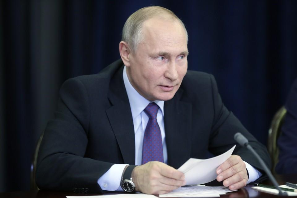 Президент РФ Владимир Путин во время встречи с получателями мегагрантов на проведение научных исследований. Фото Михаил Метцель/ТАСС