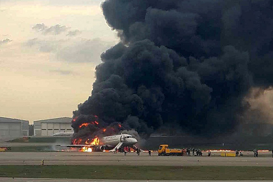 Членов экипажа сгоревшего SSJ-100 уже выписали из больницы.