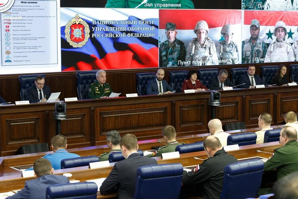 Во время брифинга Минобороны РФ о работе межведомственных координационных штабов по возвращению беженцев.