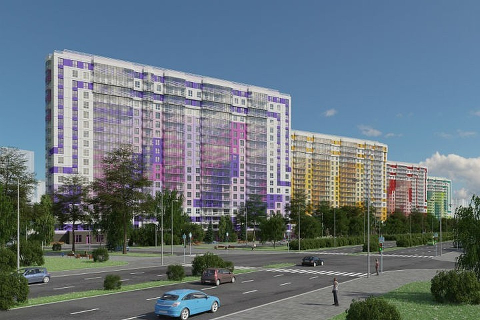 Жилой комплекс возводится на Комендантском проспекте. Фото компании «Лидер Групп».