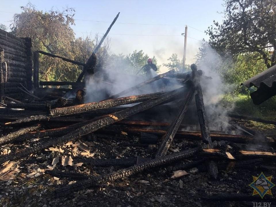 В Толочинском районе на пожаре сгорела женщина. Фото: 112.by.