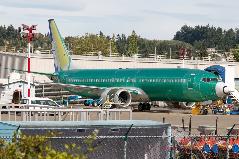 Новейший Boeing 737 MAX уже собрали для «Белавиа». Фото: twitter.com/aeroimageschris.