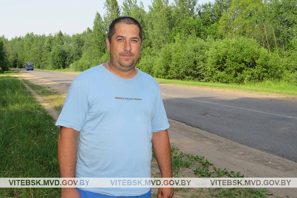 Николай Дюкарев бежал, а потом плыл за вором и поймал его! Фото: УВД Витебского облисполкома.