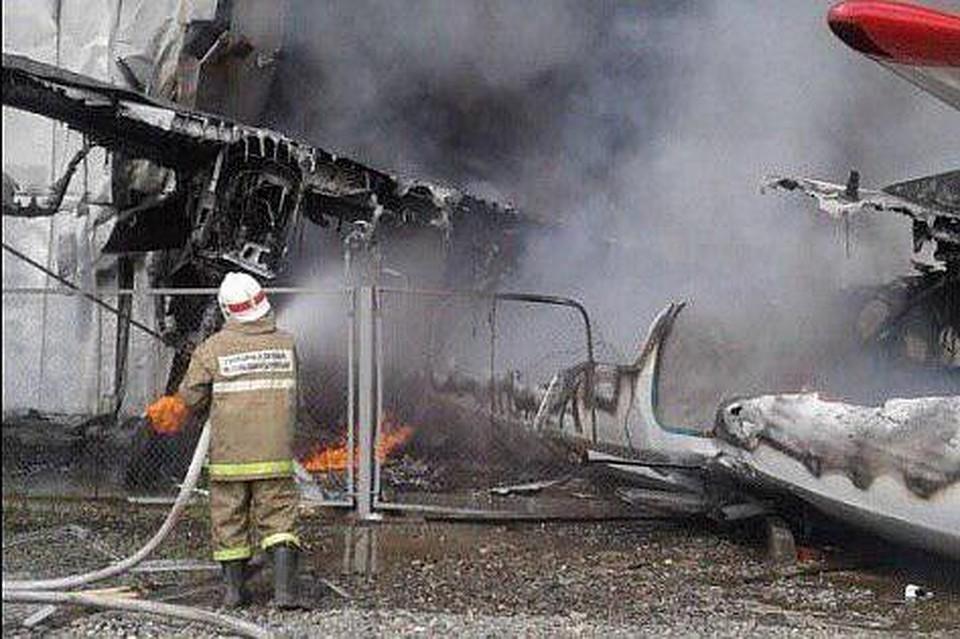Названа возможная причина аварийной посадки Ан-24 в Нижнеангарске. Фото: скрин с видео