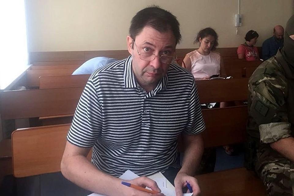 Кирилл Вышинский в зале суда. Фото: Андрей Доманский