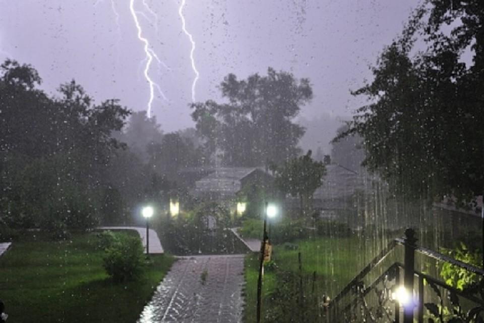 На Ямале прогнозируется дождь, гроза и сильный ветер