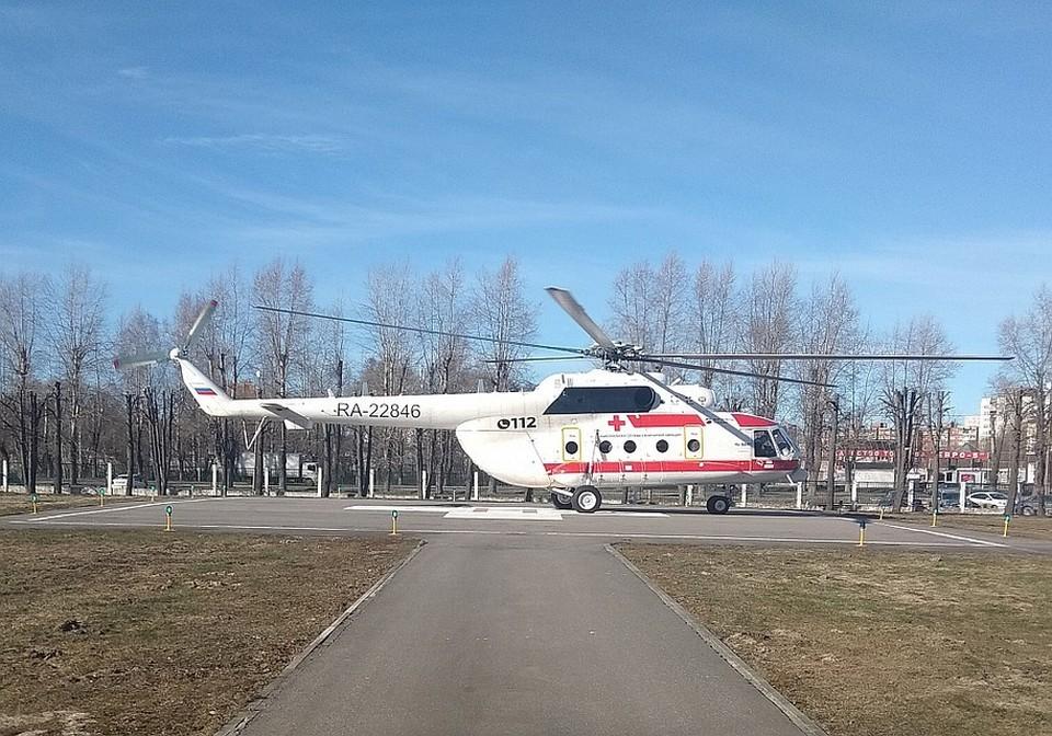 Вертолет санавиации доставил в Тверь пациентку из Нелидова Фото: минздрав Тверской области