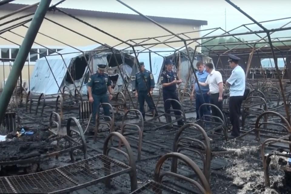 Количество пострадавших в пожаре выросло до двенадцати человек