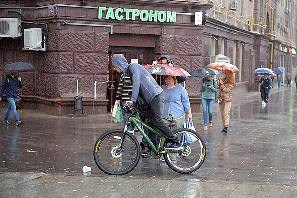 Погода в Москве ожидается дождливая
