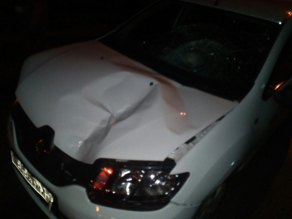 В Витебске легковушка насмерть сбила пенсионерку, переходившую дорогу в неположенном месте. Фото: ГАИ Витебска.