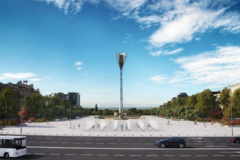 """Театральная площадь, если проект будет одобрен, после реконструкции заметно преобразится. Фото: КБ """"Стрелка""""."""