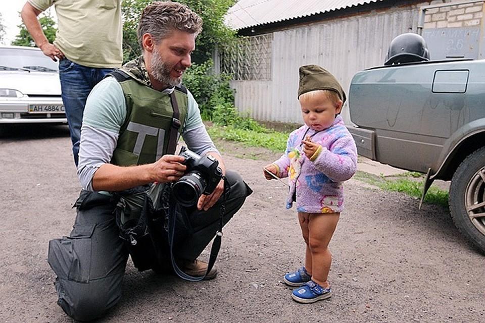 Андрей Стенин во время командировки в Донбасс