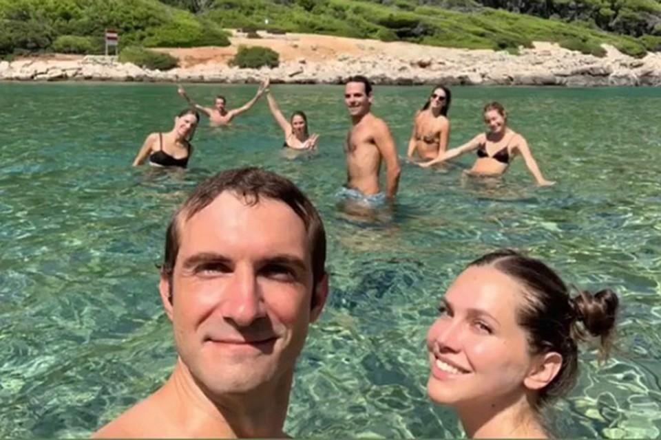 Дарья Жукова и Ставрос Ниархос отдыхают в Хорватии. Фото: Инстаграм.