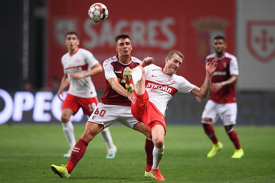 Единственный мяч красно-белые пропустили на 74-й минуте, правда, при полном попустительстве защитников