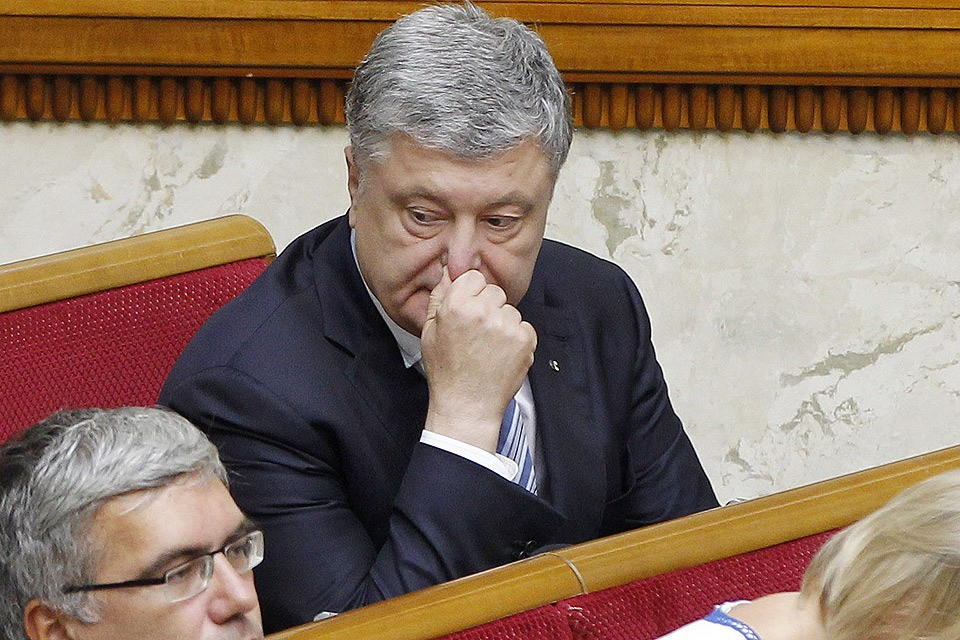 29 августа 2019 года. Петр Порошенко на первом заседании Верховной рады нового созыва.