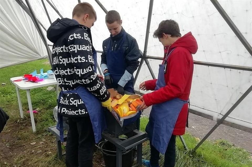 В красноярской школе открыли свой мусорозавод