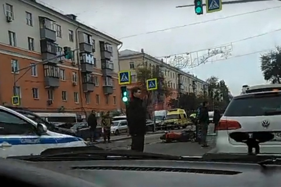 Авария произошла в районе проспекта Мира