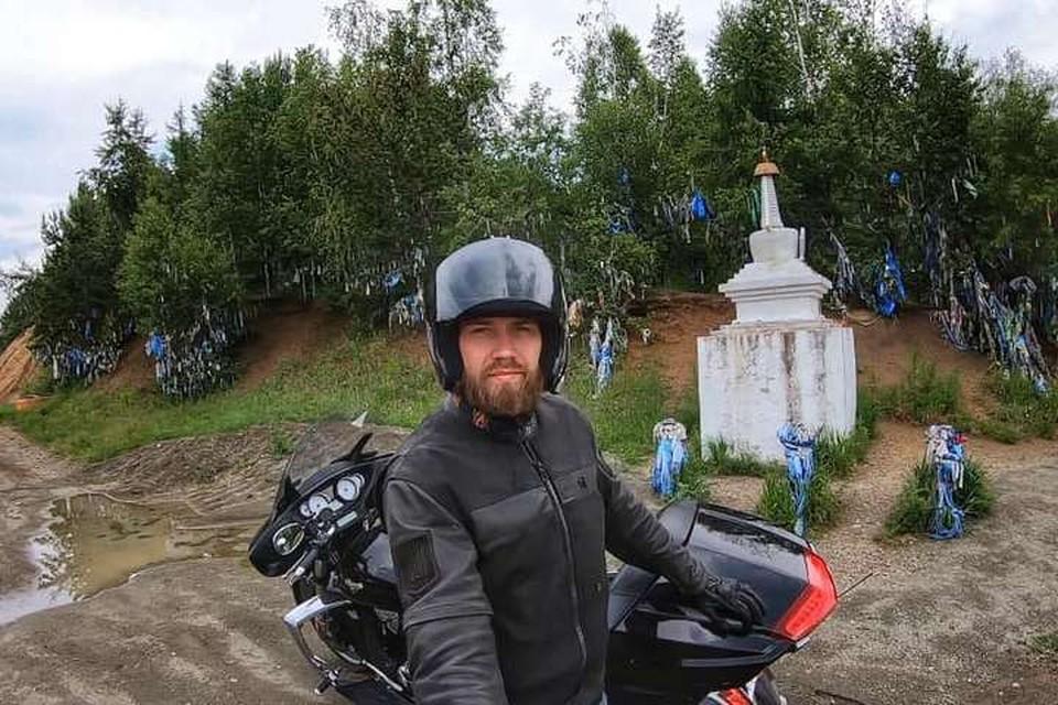 Гриша Varg попал в ДТП 27 сентября по пути из Владивостока в Хабаровск. Фото: Vcc Rider