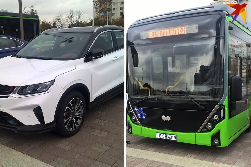 В Минске впервые показали новый кроссовер Geely SX11 и электробус нового поколения E321.
