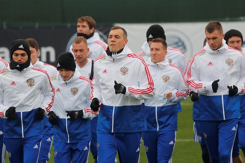 Сборная России провела тренировку накануне игры