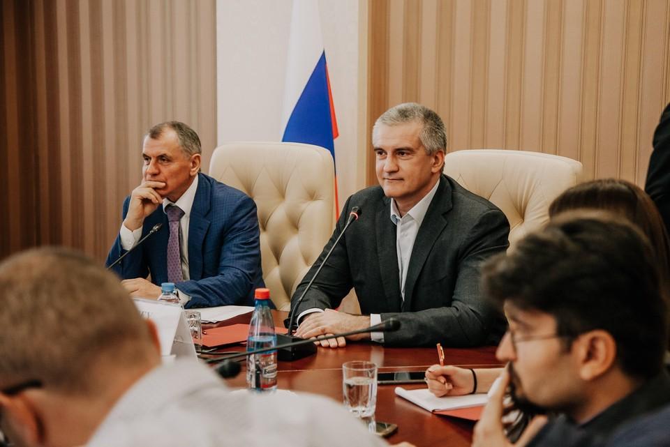 Глава Крыма сергей Аксенов встретился с иностранными журналистами. Фото: пресс-служба Главы РК