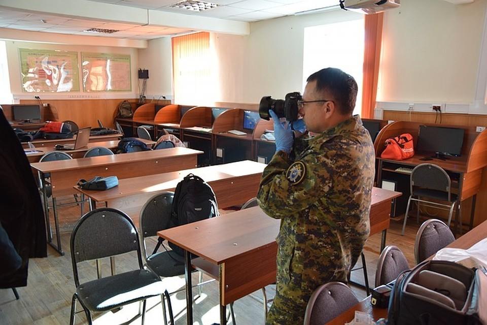 Аудитория, где Даниил Засорин открыл стрельбу. Фото: СУ СКР по Амурской области