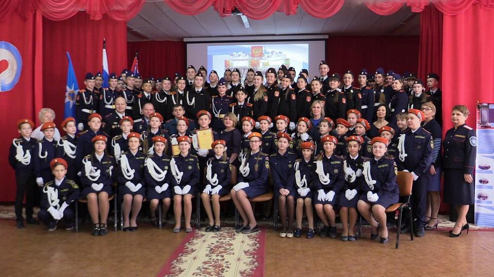 Под конец урока кадеты сделали групповое фото на память.